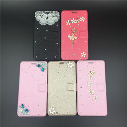 Wholesale Hand made Diamond Wallet Leather Case Luxury Bling PU Cover With Card Slot For iPhone Plus Galaxy S4 S5 S6 S7 edge Note