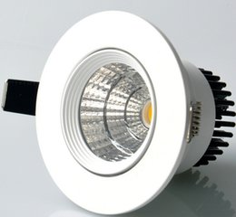 Wholesale price Dimmable COB LED Downlight 15W 110V 220V LED Down Light Warm   Natural   Cool White COB Spot Recessed Downlight Light Bulbs