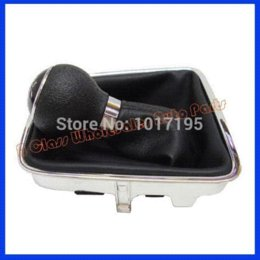 Free Shipping Promotion Car Gear Shift Knobs Giator Leather Boot 6 Speed for VW Tiguan (2007-13) SHARAN (2010-13)