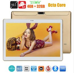 Tablette 3g appel en Ligne-10.1 pouce lenovo tablette 3G Phone Call carte SIM Android 5.1 Octa Core WCDMA WiFi GPS FM 4G LTE Tablette 4 Go + 32 Go Anroid 10.1 Tablet PC
