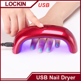 Wholesale Mini USB W LED UV Nail Dryer Curing Lamp Machine Gel Nail Polish Powerful UV Lamp Light Nail Polish Fast Dry Colors