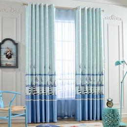 Wholesale Fashion Window Bedroom Curtain Polyester Blackout Cartoon Sheer Finished Curtain Ready made Pleated Curtain Eyelet Hooks Style Panels