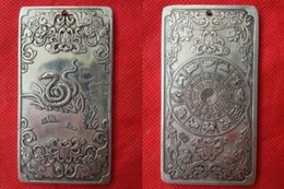 Wholesale collectibles Chinese Old Zodiac Snake tibet Silver Bullion thanka amulet