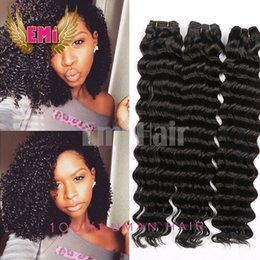 3 Boundles Brazilian Virgin Deep Curly Wave Hair Weaves Peruvian Hair Unprocessed Remy Human Hair Extensions for Black Women