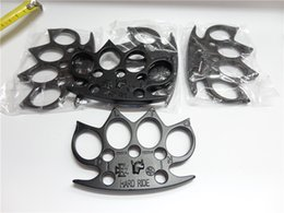 Wholesale HARD RIDE STEEL BRASS KNUCKLES KNUCKLE DUSTER Alloy Gold silver and black knuckle duster brass knuckle clutch knuckle knives self defense