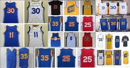 Wholesale 2016 New Men Golden State Basketball Jerseys Blue White New Material Rev Size S XXXL Stitched Jerseys Sport Shirt Wear