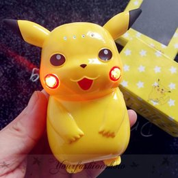 Wholesale With LED Light Pikachu Power Bank mAh Portable Charger Poke Cartoon Cute LED USB Phone Battery Mobile Chargers L337