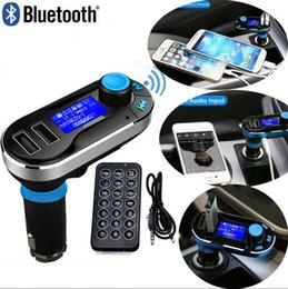 T66 Car MP3 Player Infrared Remote Control Support AUX Cigarette Lighter Type Card Machine Dual USB Car Charger Music come with bluetooth