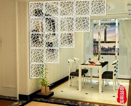 Wholesale 4PCS Hanging Screen Creative TV Setting Wall Art Paper cut Sitting Room Porch Partition European Contracted The Study on Sale Carved screens