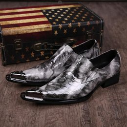 Height increasing men's leather crocodile grain wedding shoes Italy brand plus size 46 mens dress shoes design