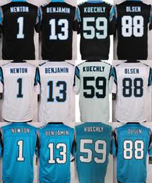 Wholesale Men s Authentic Elite Cam Newton Kelvin Benjamin Jonathan Stewart Luke Kuechly Stitched Football Jersey