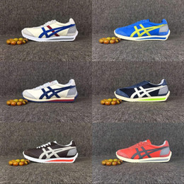 Wholesale Asics Onitsuka Tiger Running Shoes Mens And Womens Comfortable Simple Style Athletic Outdoor Sport Shoes Sneakers Eur36