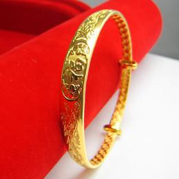 """Gold bracelet female contraction adjustable """"gold plated bracelet Mother Dragon Bracelet simulation models"""