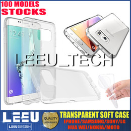 Wholesale 0 mm TPU Crystal Gel Ultra Thin transparent Soft TPU slim Case for Iphone PLUS s plus galaxy S7 S7edge note jelly clear Cases silicon