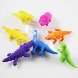 Enfants mignons effaceurs en Ligne-Cartoon Animals Dinosaur Crocodile Pencil Eraser Cute Rubber Correction Erasers Étudiant Papeterie Fournitures scolaires Promotion de cadeaux pour enfants
