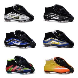 Wholesale High Quality Champions League Mercurial Superfly Heritage VI CR7 FG Magista Obra Football Boots ACC Outdoor Hypervenom II Kids Soccer Shoes