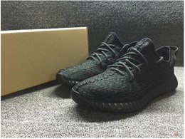 Wholesale Fashion Brand Mens Boost Pirate Black Running Shoes Footwear Sneakers Kanye West Boost milan Sport Sneakers