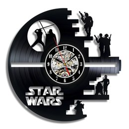 Wholesale Star Wars Death Star Designed Wall Clock Decorate your home with Modern Large Darth Vader and Luke Skywalker Art Best gift for friend