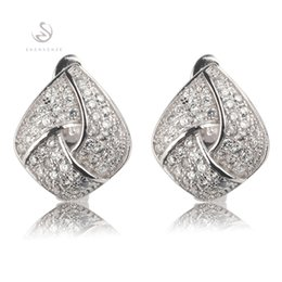 Copper Rhodium Plated Romantic Earrings Promotion White Cubic Zirconia MN3253 Noble Generous Favourite Best Sellers The new product Classic