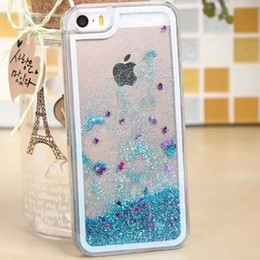 For iphone 7 7plus Galaxy S7 Iphone 6S Case Iphone SE Clear Transparent Case Floating Glitter Star Quicksand Dynamic Hard Case DHL SCA108