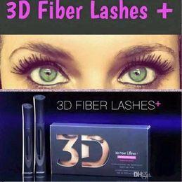 2016 HOT !!2016 Newest 1030 version 3D Fiber Lashes Waterproof Double Mascara 3D FIBER LASHES Set Makeup Eyelash 2pcs=1set
