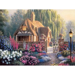 Wholesale DIY diamond painting Farm House scenic Crystal needlework gift home Decoration wedding gift x30CM LD