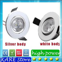 Wholesale 30 best price LED Recessed mini Downlight W LED white silver body LED cabinet lights led downlight ceiling lamp V with power driver