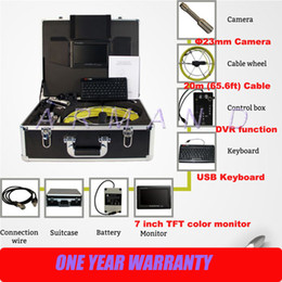 Duct Inspection Tools Video Sewer Camera for Pipe Wall Inspection DVR and Monitor 710DK 8GB SD card