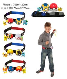 Wholesale Poke Ball Cross Belt Action Figure Pocket Monster Pikachu Toy Poke Belt Pretend Adjustable Christmas Gift