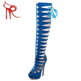 Wholesale 2016 star with a big catwalk nightclub in Italy socialite favorite high heeled boots out cool boots