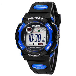 Casual Kid Silicone Strap LED Digital Dress Watches Luxury Students Sport Watch Outdoor Water Resistant Watch for Kids