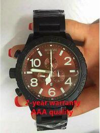 Free shipping New 51-30 Chrono All Gold Chronograph Mens Watch A083-000 Watch original brand Black bracelet