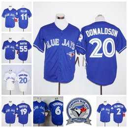 Wholesale Blue Jays Stroman Baseball Jerseys with th Anniversary patches on Left Arm Donaldson Bautista Dickey Pillar Price