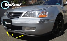 Wholesale For Acura CL Front Skirt Deflector Spoiler For Car Tuning The Stig Recommend Body Kit Strip Bumper Lip Lips