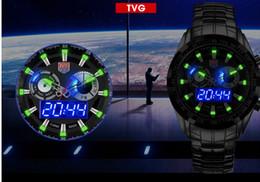 Descuento reloj del ejército suizo deporte militar Relojes Militares 5ATM Resistente Swiss Army LED de agua digital del análogo de cuarzo Relojes TVG manera de los hombres relojes deportivos del relogio masculino