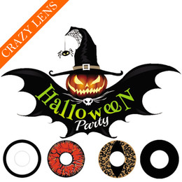 Wholesale Halloween Contacts Styles of Crazy Contacts White Out Black Out Blood Red Eye Contact Lenses Ready Stock