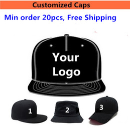 Wholesale LOGO Custom Embroidered Hats Baseball Snapbacks Printing Embrodiery Caps For Adults Mens Womens Children Kids Size Fitted Fishing Hats Sale