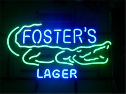 Wholesale NEON SIGN For FOSTERS AUSTRALIAN LAGER Custom Store Display Beer Bar Pub Club Lights Signs Lighting Shop Decorate Real Glass Tube Bulbs