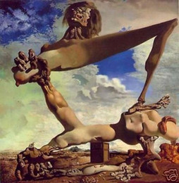 Wholesale Salvador Dali Soft Construction Genuine Handpainted Art oil Painting On Canvas Museum Quality in any size chosen