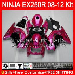 8gifts+Body For KAWASAKI NINJA EX250 R 08-12 EX-250 3NO66 purple black EX250R 08 09 10 11 12 TOP purple EX 250R 2008 2009 2010 2012 Fairing