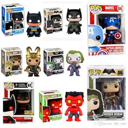 Wholesale 10cm Funko POP series The avengers alliance Kids love toys Display box The hulk captain America batman Iron man free express