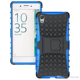 Protection téléphone cellulaire en Ligne-Heavy Duty Rugged Defender Cell Phone Housse de protection hybride Kickstand pour Sony Xperia E4 E4G E5 M4 Aqua M5 X XA couverture résistant aux chocs