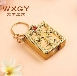 Wholesale Manufacturers selling creative bible keychains key exquisite deserve to act the role of custom Mini bible