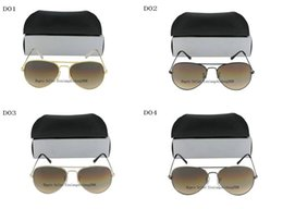 Wholesale New Hot Sell Women Men Gold Frame Brown gradient Sunglasses mm and mm size len come box