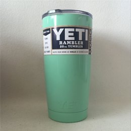 Wholesale 6 Colors YETI Tumbler Rambler Cups OZ OZ Double Stainless Steel Insulation Cups Cars Beer Mug Large Capacity Tumblerful from army2012