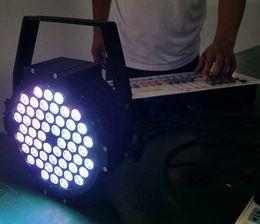 Free shipping Cast aluminium 54*3W Tri color LED Flat Par Lights Aluminium 3in1 DMX LED Stage Lighting