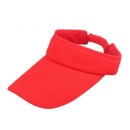 Women Visor Sun Plain Hat Sports Cap Colors Golf Tennis Beach Hat Adjustable free shipping