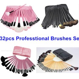 32Pcs Professional Makeup Brushes Set Make Up Cosmetics Brush Kit Tool Brush for Make Up Wood Pink Black 4 Color