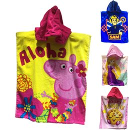 Wholesale 2016 New Baby Bath Robes C1456 Cartoon New Cartoon Animal Baby Hooded Bathrobe Bath Towel Bath