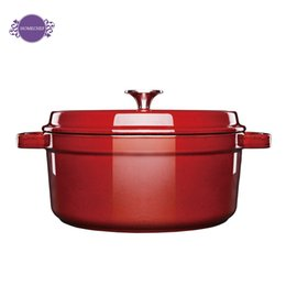 Wholesale Die casting aluminumn casserole with thick colored enamel pot soup cooking pot like keeping in good health caramic coating